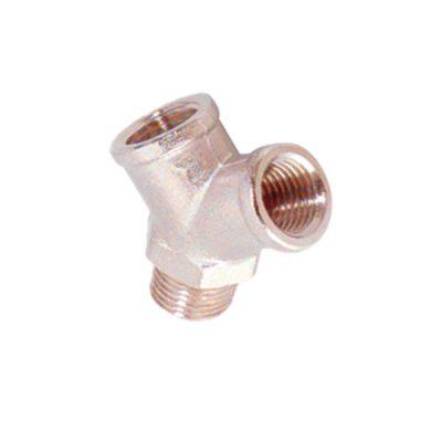 Y laiton Nickeléfemelle-mâle conique 1/2-Réf-600022